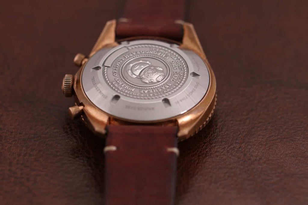 אוריס קארל בראשיר מהדורה מוגבלת - גב השעון