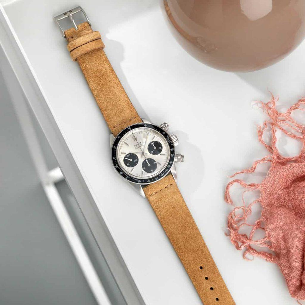 רצועת עור זמש לשעון רולקס מבית Bulang & Sons