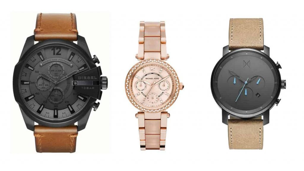 שעוני אופנה של מייקל קורס, דיזל, MVMT.