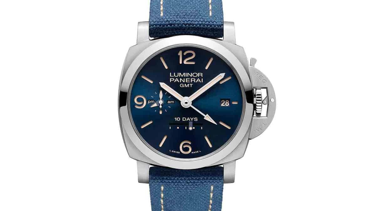 שעון PAM 986 - פנריי לומינור 1950 10 ימים GMT אוטומטי ACCIAIO מהדורה מוגבלת. מקור - פנריי.