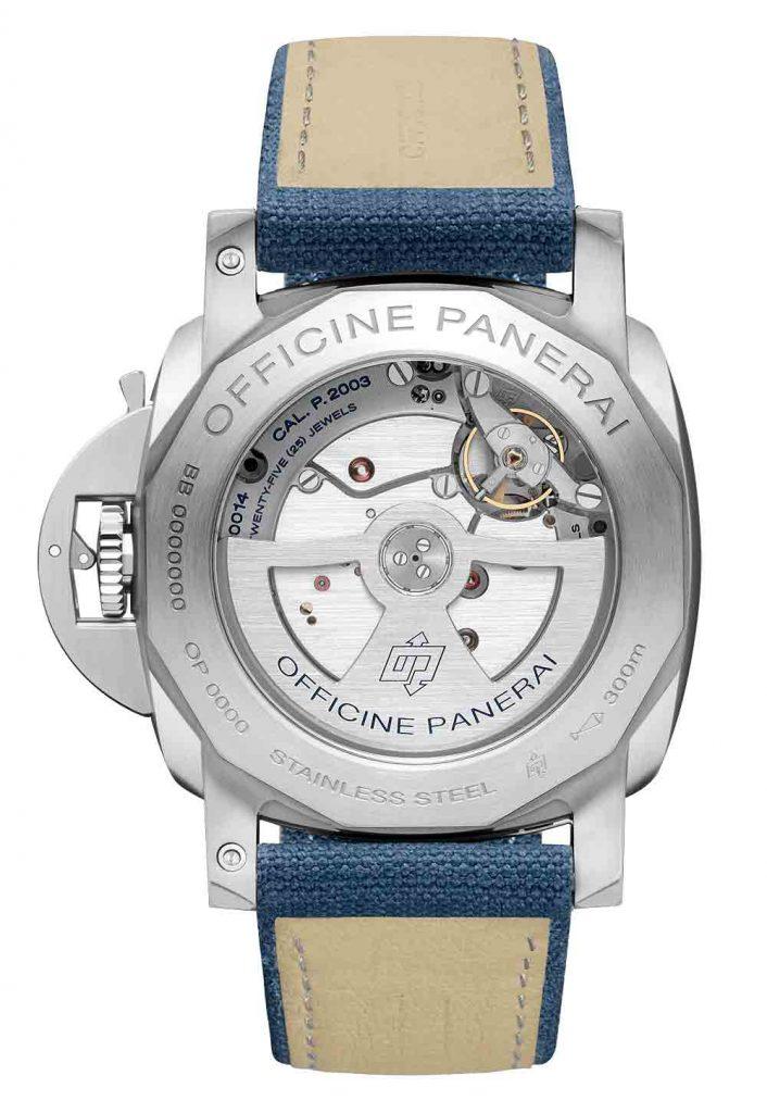 פנריי PAM 986 - החלק האחורי של השעון
