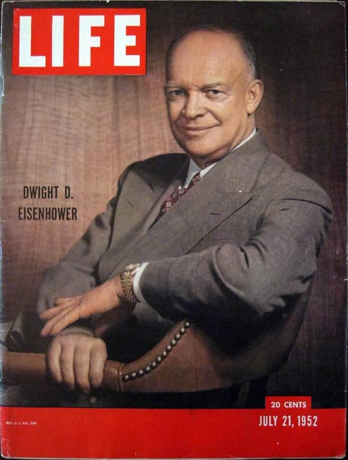 """דוויט אייזנהאואר, נשיא ארה""""ב באותה עת"""