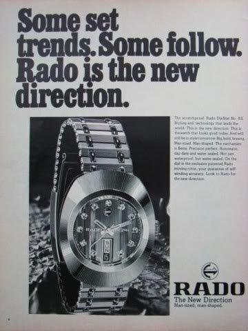 פרסומת וינטאג' לראדו DIASTAR ONE. מקור - ראדו.