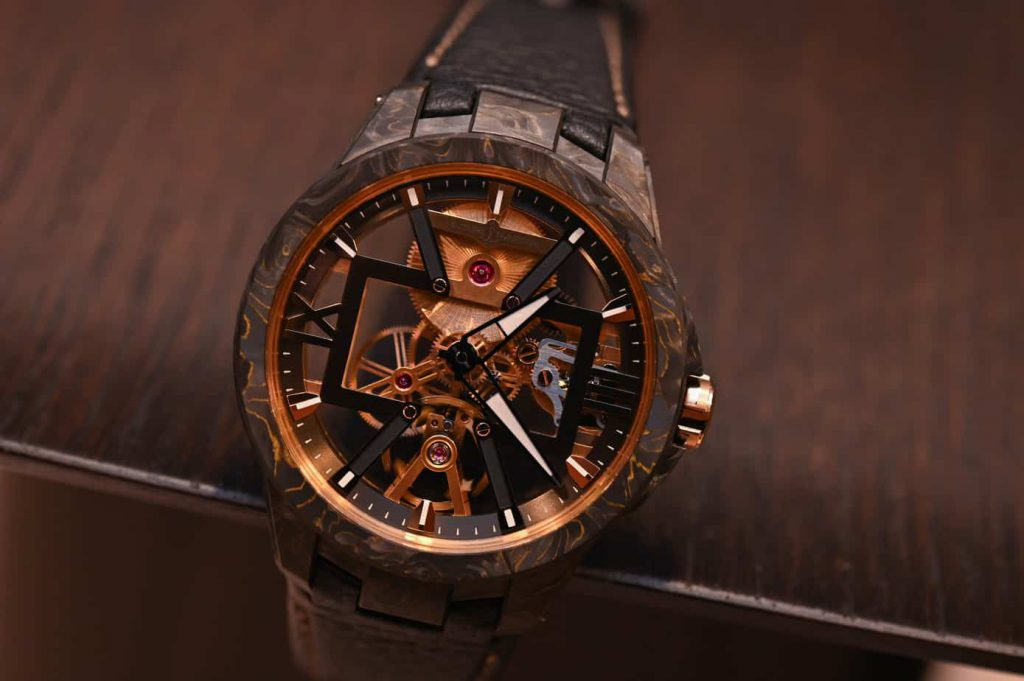 Ulysse nardin exacutive Skeleton X Carbonium gold