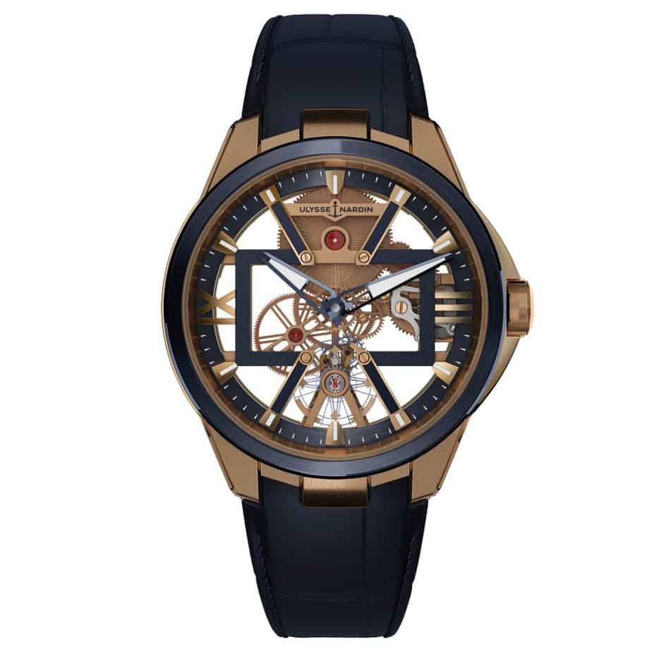 Ulysse nardin exacutive Skeleton X rose-gold