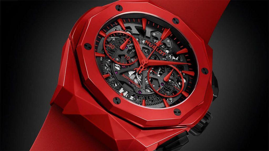 שעון Hublot Classic Fusion Chronograph Orlinski אדום. מקור - Ablogtowatch.