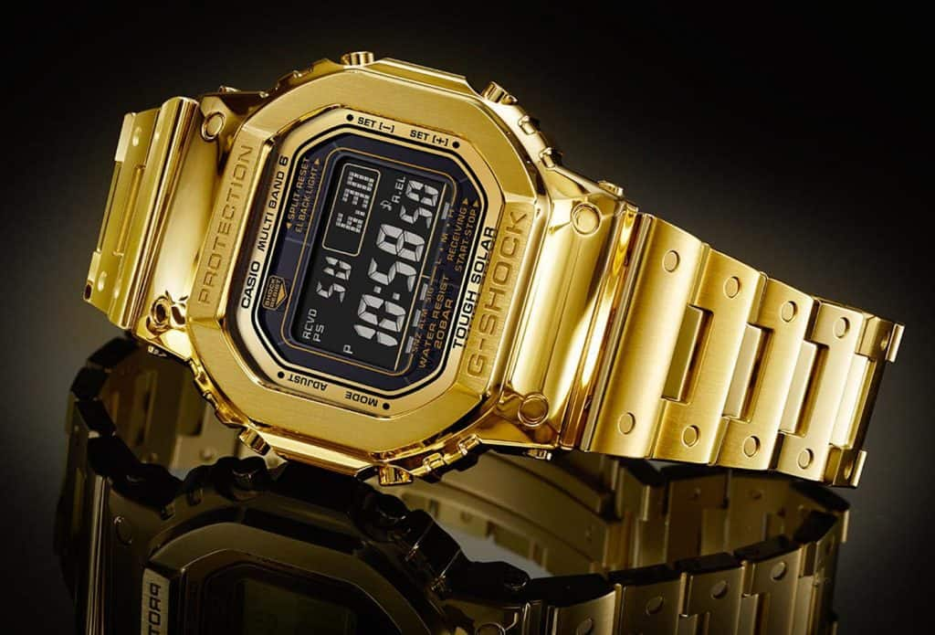 שעון קסיו G-Shock G-D5000-9JR PURE GOLD.
