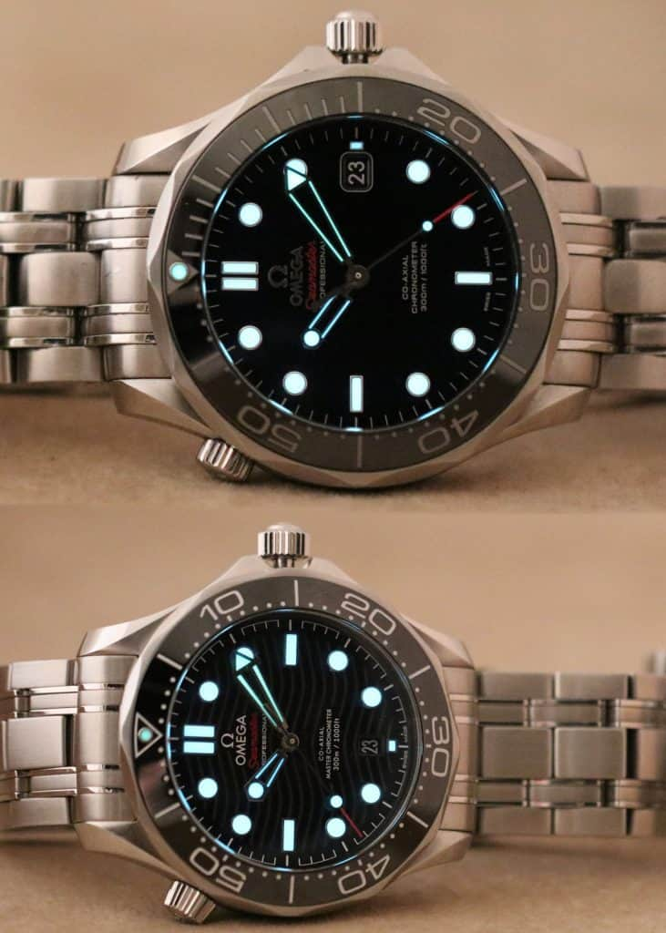 Omega Seamaster Loom shots old vs new