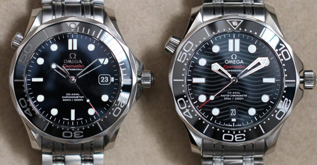 omega seamaster old vs new dial