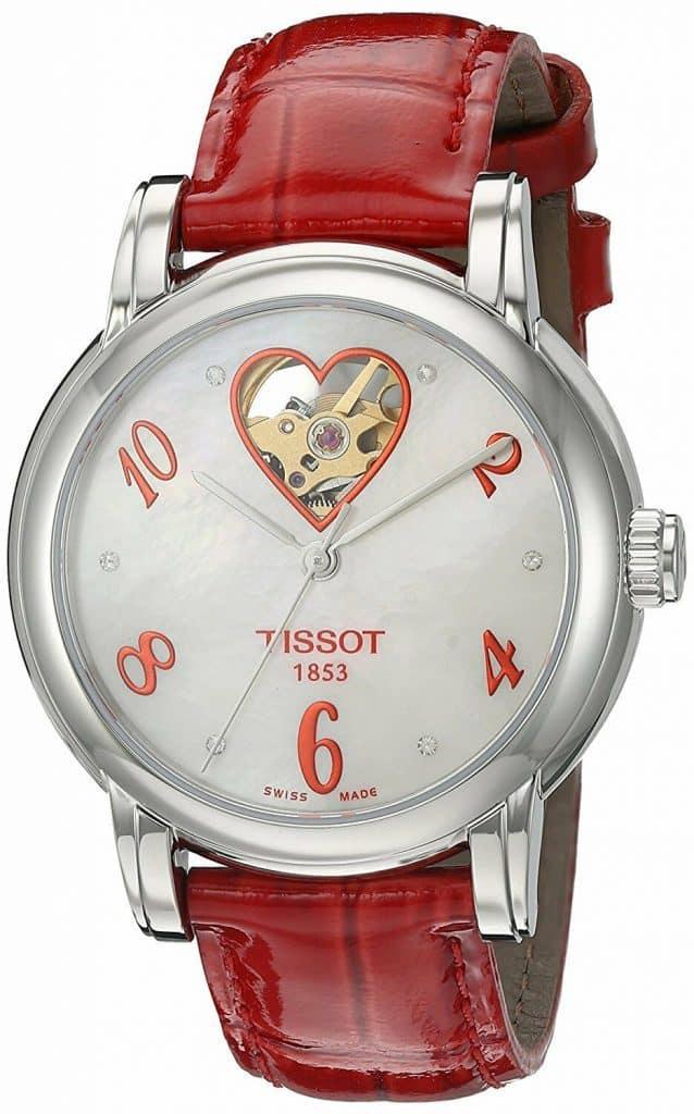 tissot lady heart automatic open wheel