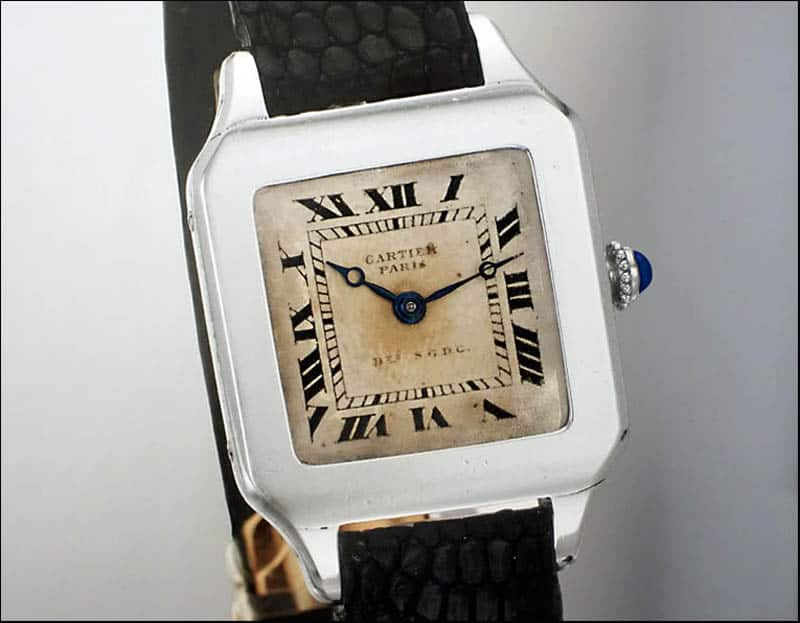 שעון קרטייה סנטוס וינטאג'י. מקור - Monochrome Watches.