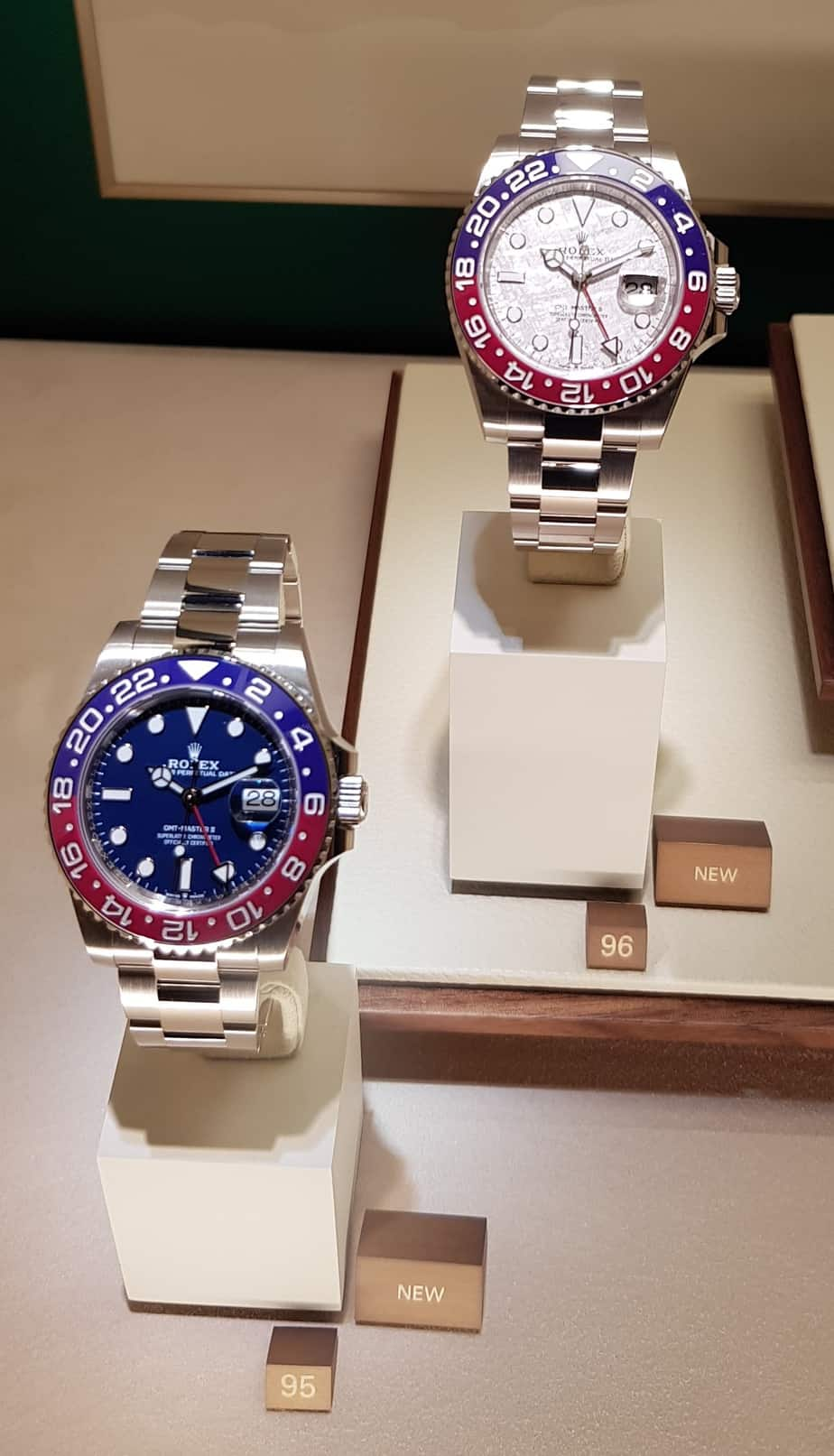 GMT MASTER II PEPSI WHITE GOLD AND METEORITE