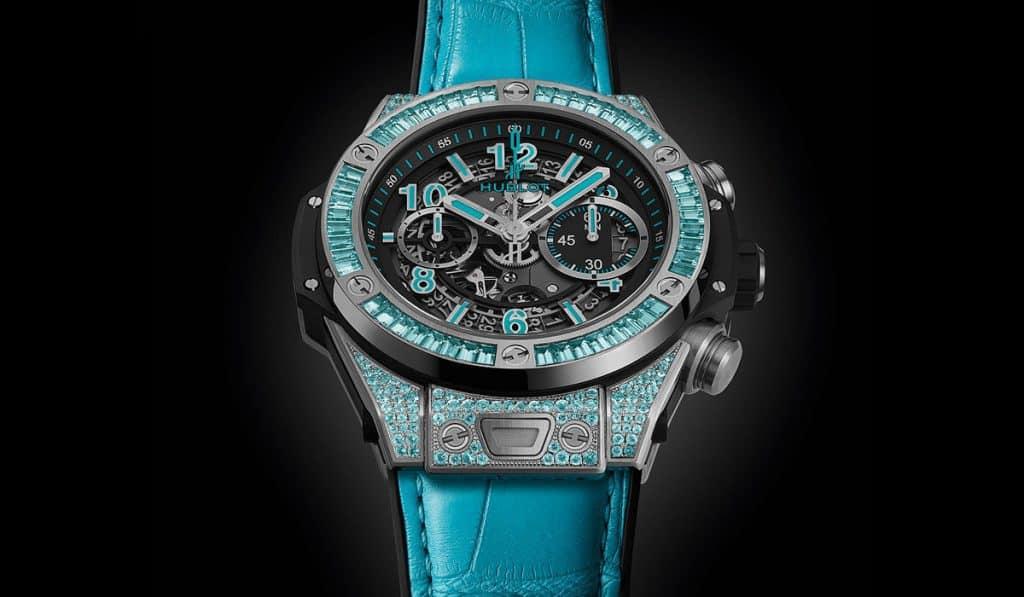 שעון הובלו ביג באנג יוניקו פראיבה בזהב לבן. מקור - WatchTime.