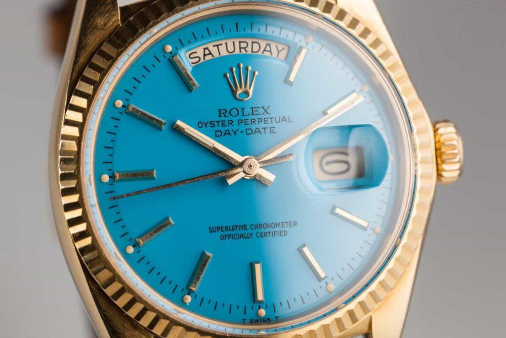 שעון רולקס דיי דייט עם לוח סטלה. מקור - HQ MILTON.