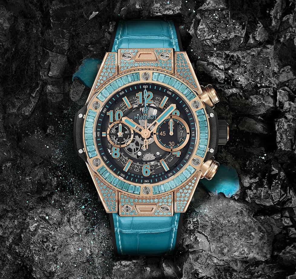 שעון הובלו ביג באנג יוניקו פראיבה ב-King Gold של הובלו. מקור - WatchTime.