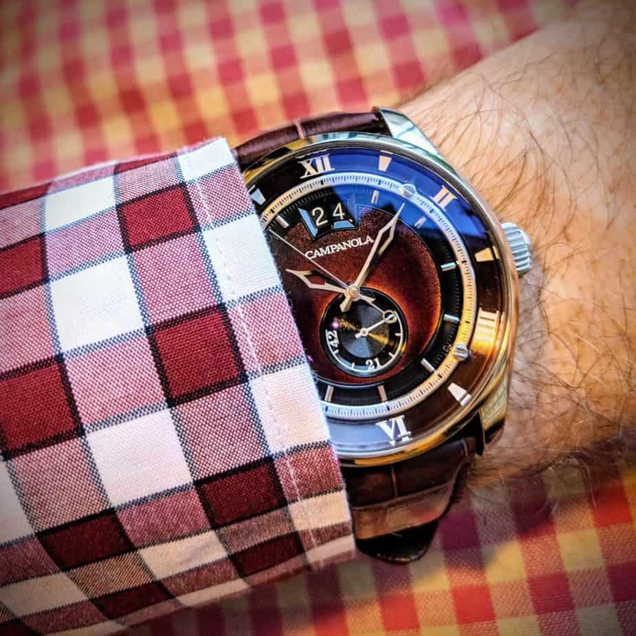 campanola watch on wrist