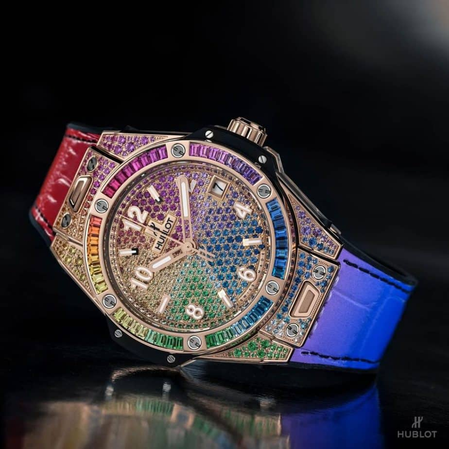 hublot big bang one click rainbow 39mm