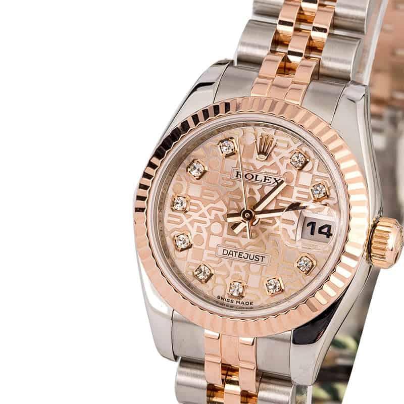 שעון רולקס דייטג'אסט 179171. מקור - Bobs Watches.