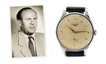 שעון הלונג'ין של אוסקר שינדלר. מקור - Hodinkee.