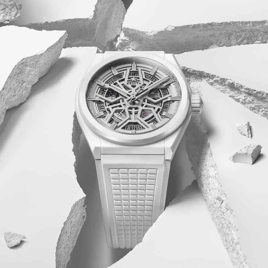 zenith defy classic white cermaic