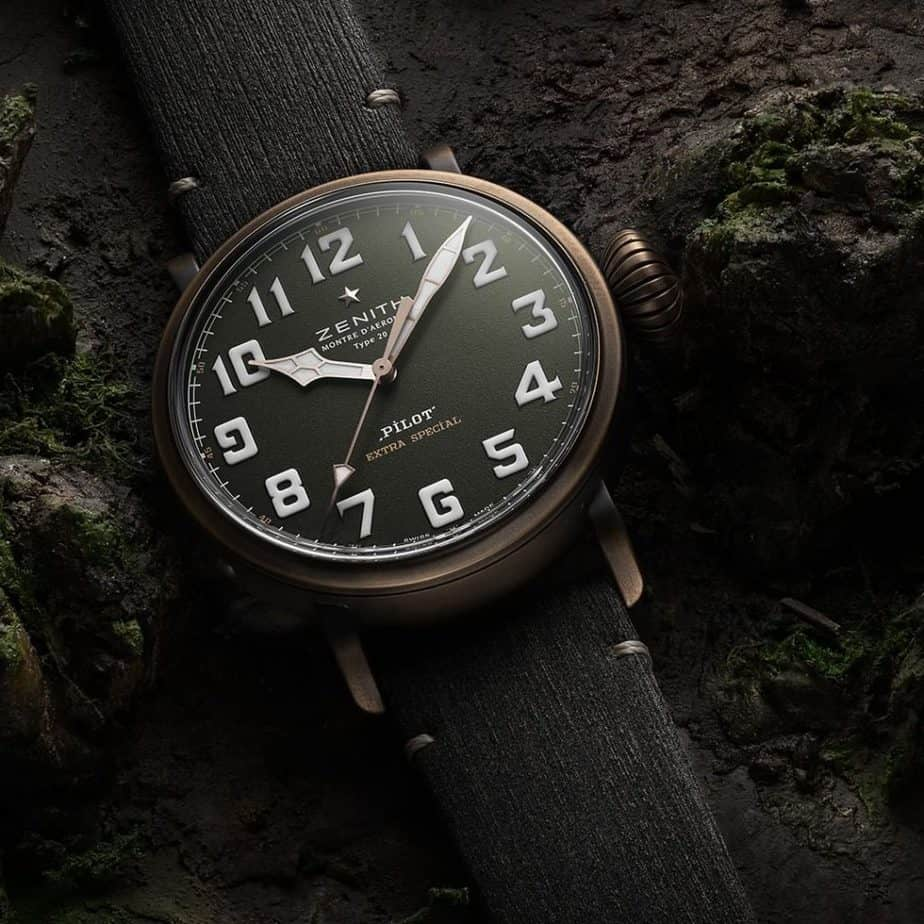 zenith type 20 bronze and green dial