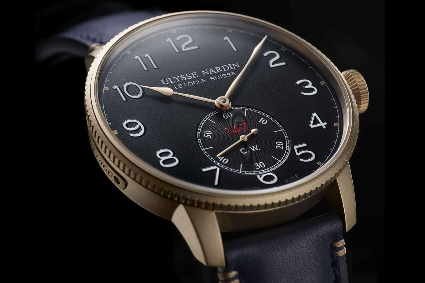 Ulysse Nardin Marine torpilluer Military Bronze and Blue