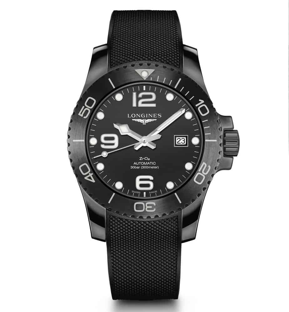 longines hydro conquest black ceramic