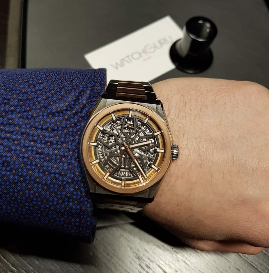 zenith defy calssic ross gold two tone