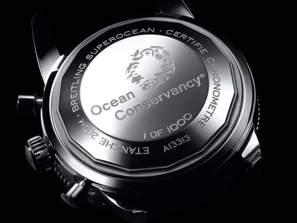שעון ברייטלינג סופר אושן הריטג' II כרונוגרף 44 במהדורה מוגבלת לשימור האוקיינוס. מקור - WatchTime.