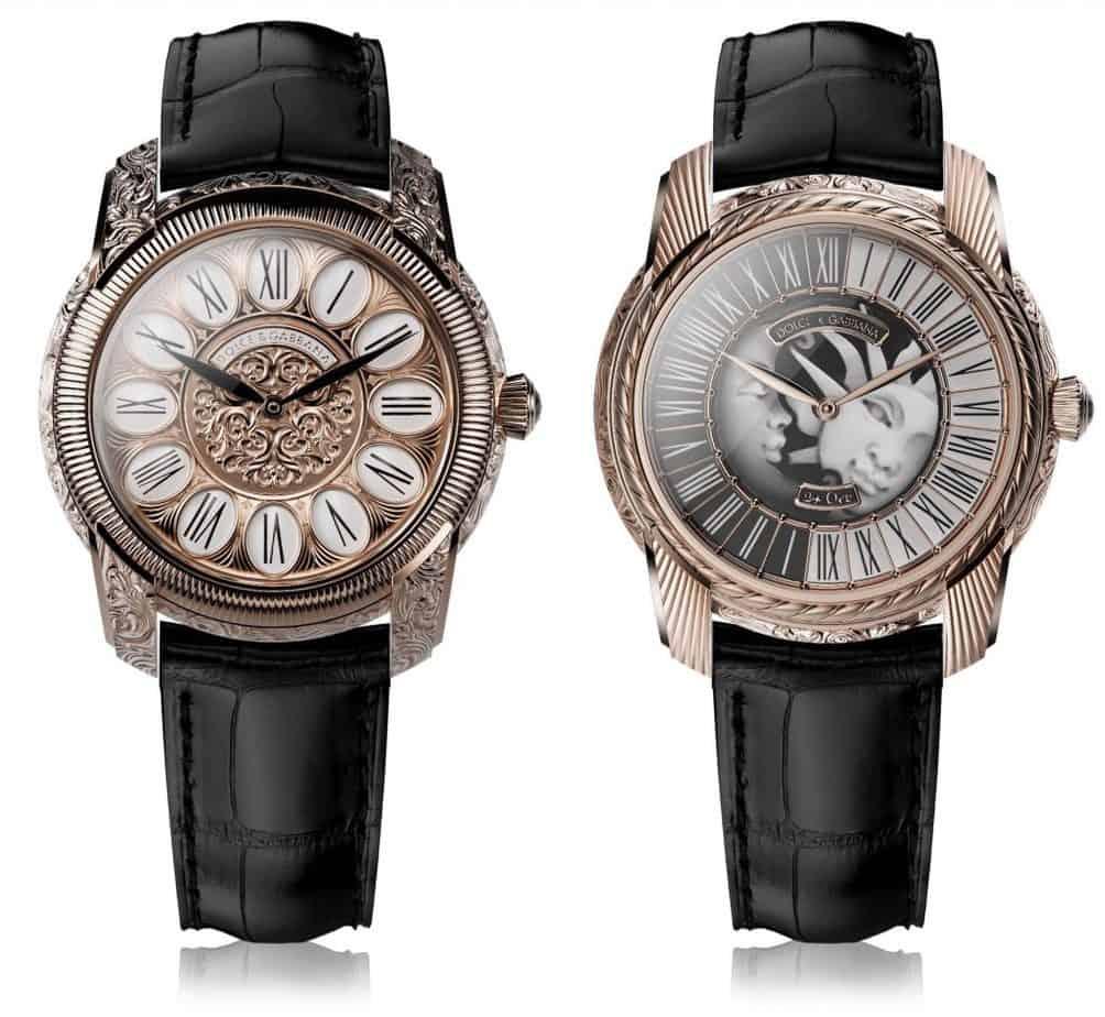 שעונים מסדרת ה-Manifattura Italiana של דולצ'ה וגבאנה עם מנגנון ה-DG01 של החברה. מקור - Monochrome Watches.