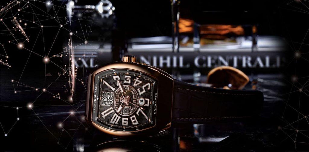 שעון פרנק מולר אנקריפטו עם ארנק אחסון קר לביטקוין. מקור - פרנק מולר.