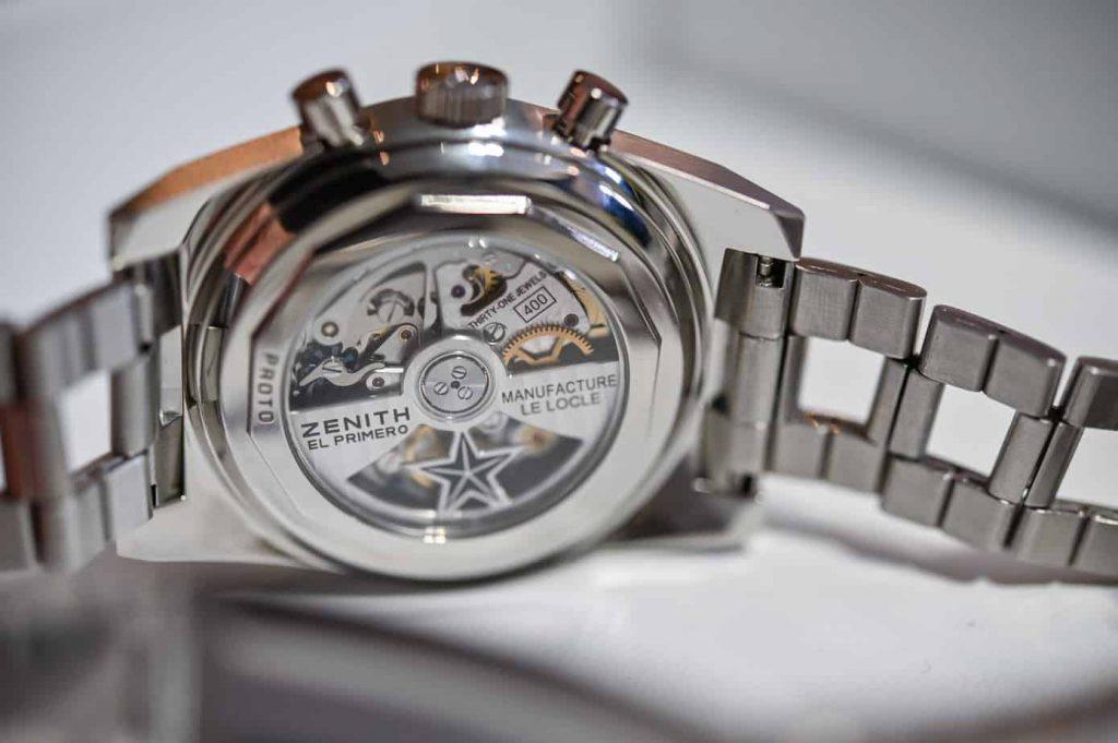 קליבר האל פרימרו 400 בשעון זניט אל פרימרו A384 Revival. מקור - Monochrome Watches.