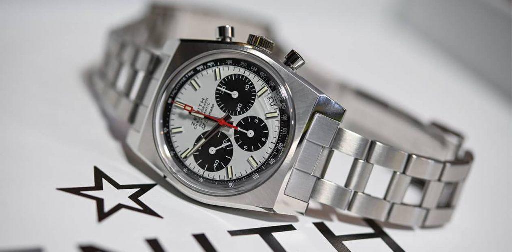 שעון זניט אל פרימרו A384 Revival. מקור - Monochrome Watches.