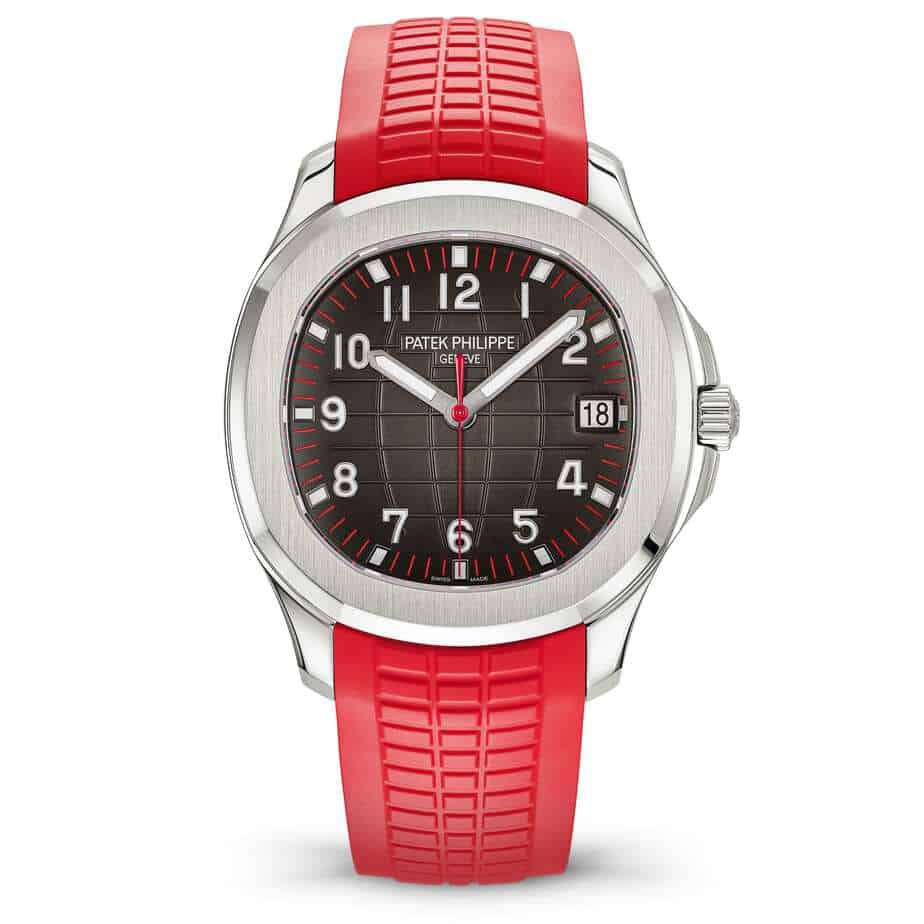 patek philippe aquanaut steel red 2019