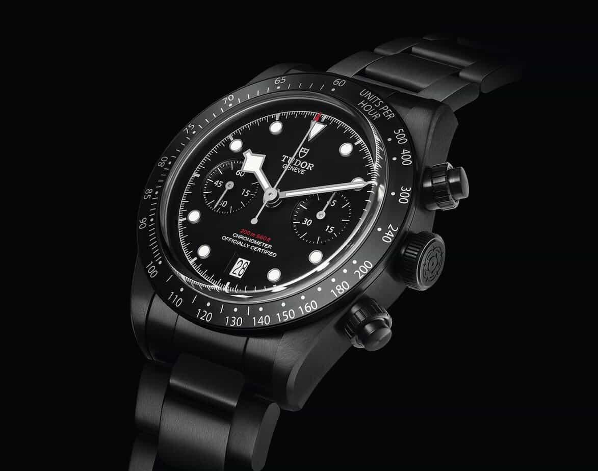 tudor black bay chronograph dark
