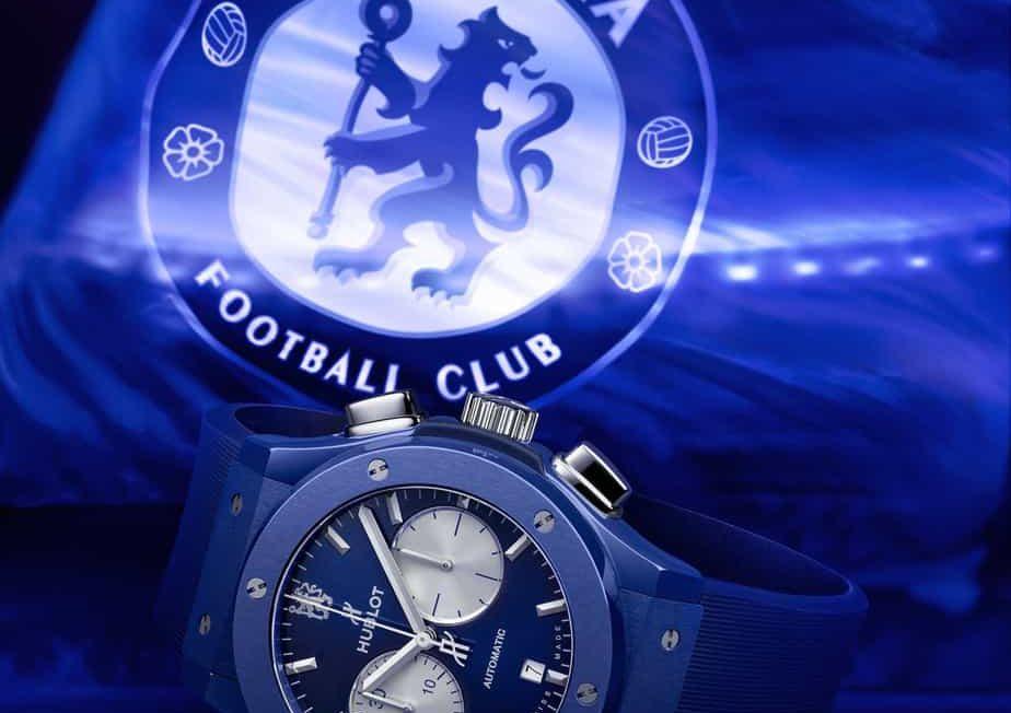 שעון הובלו קלאסיק פיוז'ן כרונוגרף Chelsea FC מהדורה מוגבלת. מקור - HauteTime.