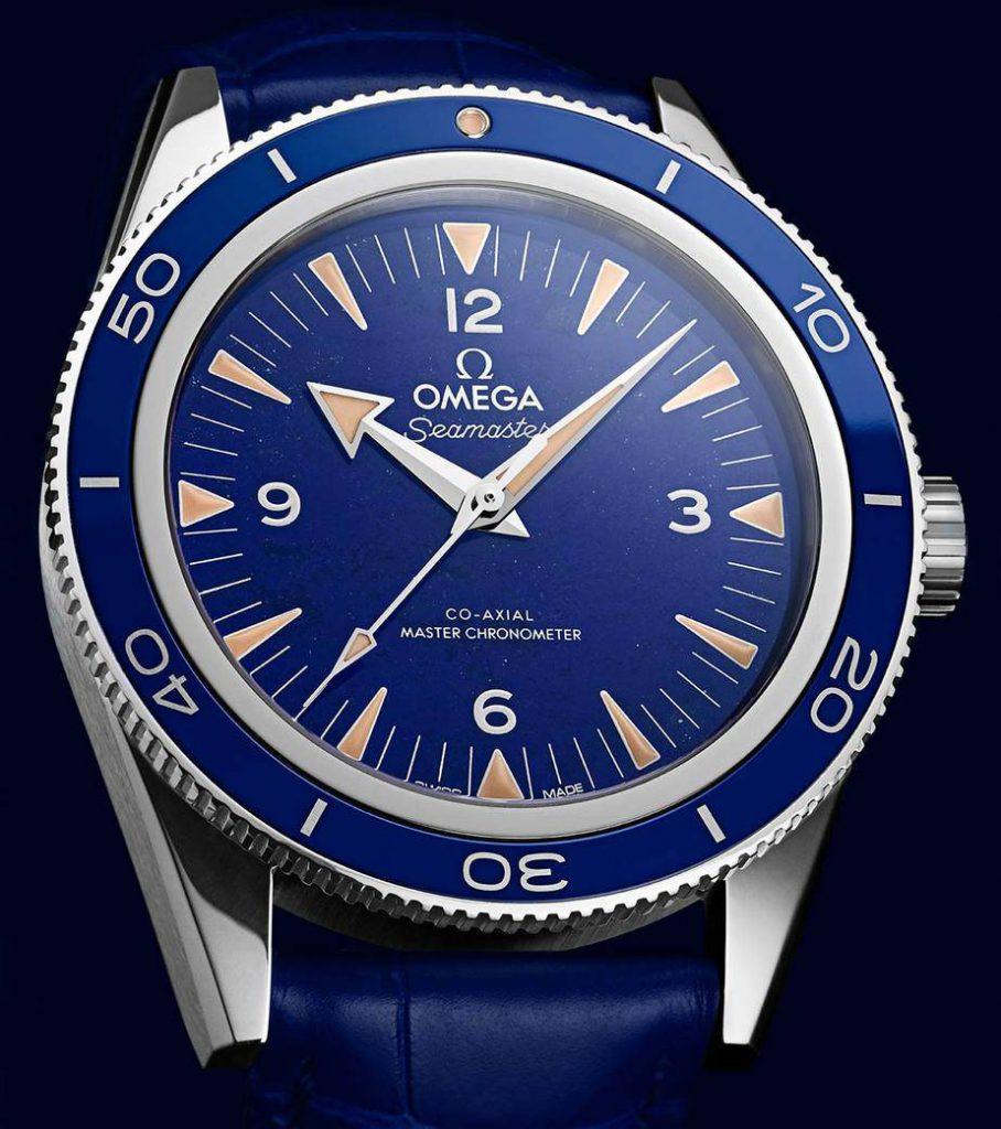 אומגה סימאסטר 300 לפיס לזולי - Omega Seamaster 300 Lapis Lazuli. מקור - TimeandWAtches.