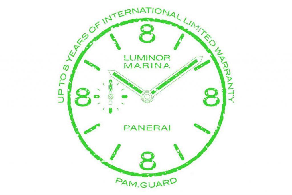 פנריי Pam.Guard. תוכנית אחריות מורחבת לשמונה שנים לשעוני פנריי.