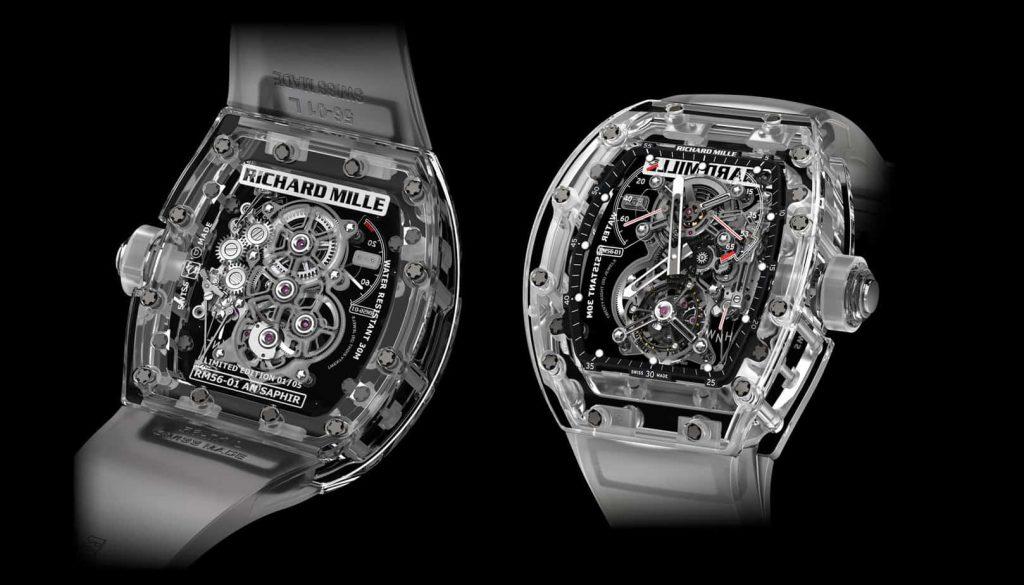 שעון הריצ'רד מיל RM 56-01 המקורי, מהדורה מוגבלת של 5 יחידות בשווי 2 מיליון דולר כל אחת.