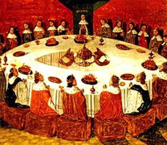 איור של המלך ארתור ואבירי השולחן העגול. מקור- ויקיפדיה