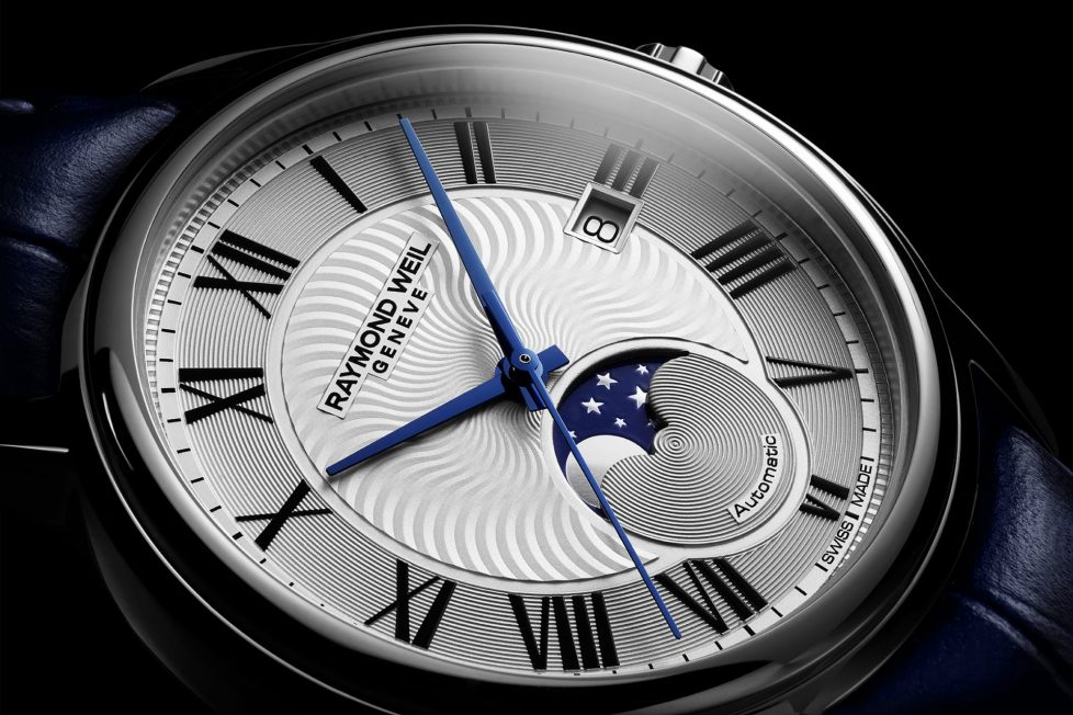 שעון המאסטרו מון פייז של ריימונד וייל. מקור - אתר החברה.