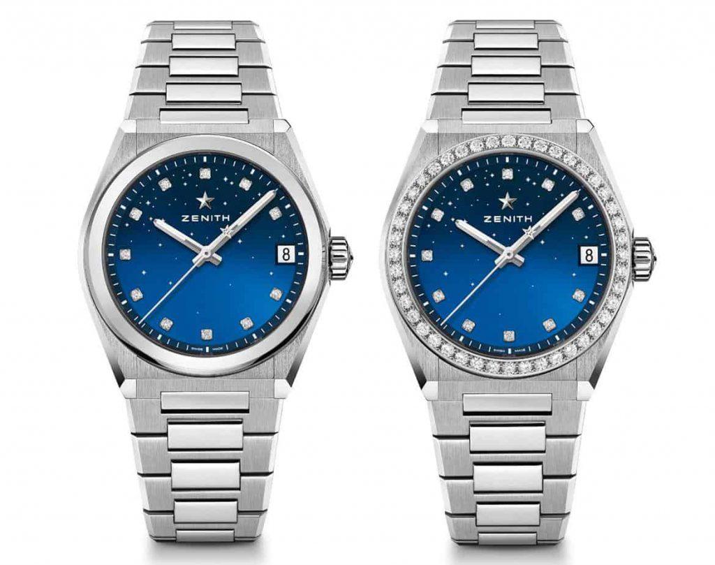 הגרסה הכחולה של שעוני הזניט דפיי מידנייט קלאסיק. מקור - TimeandWatches.