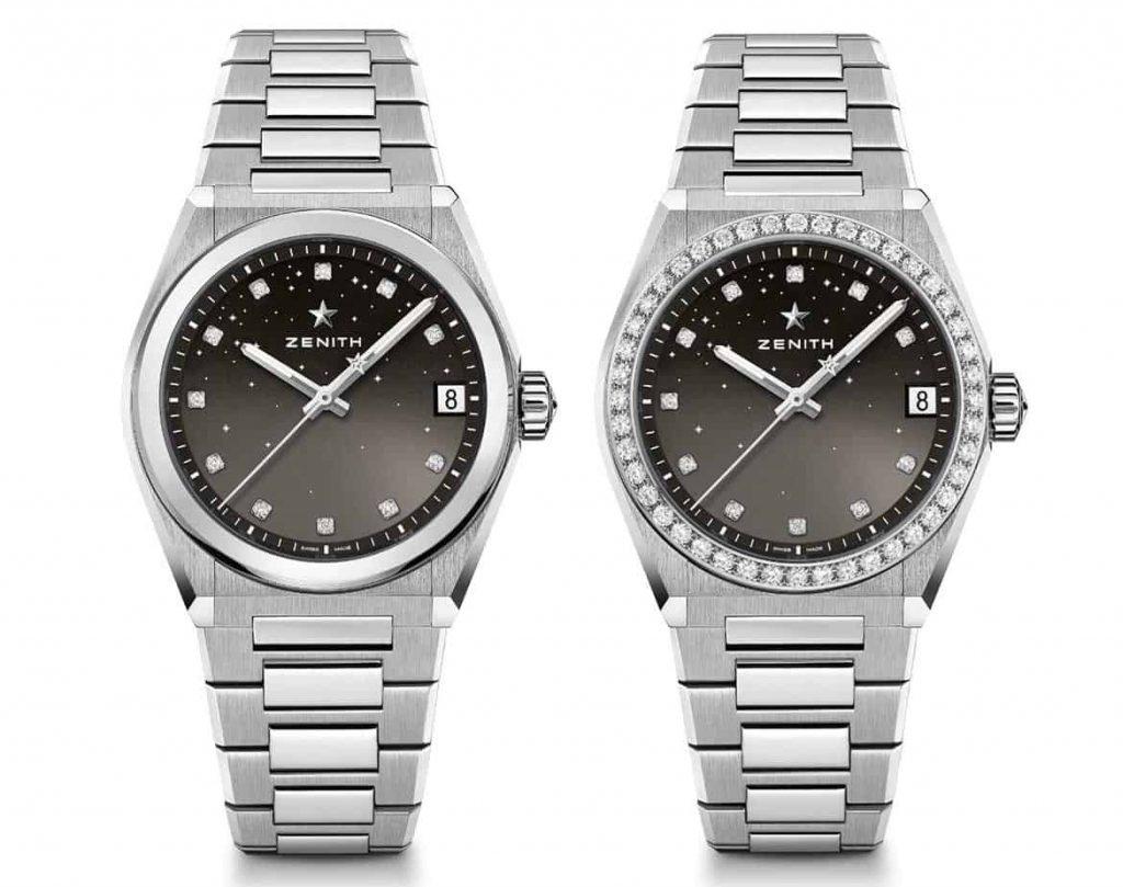 הגרסה השחורה של שעוני הזניט דפיי מידנייט קלאסיק. מקור - TimeandWatches.