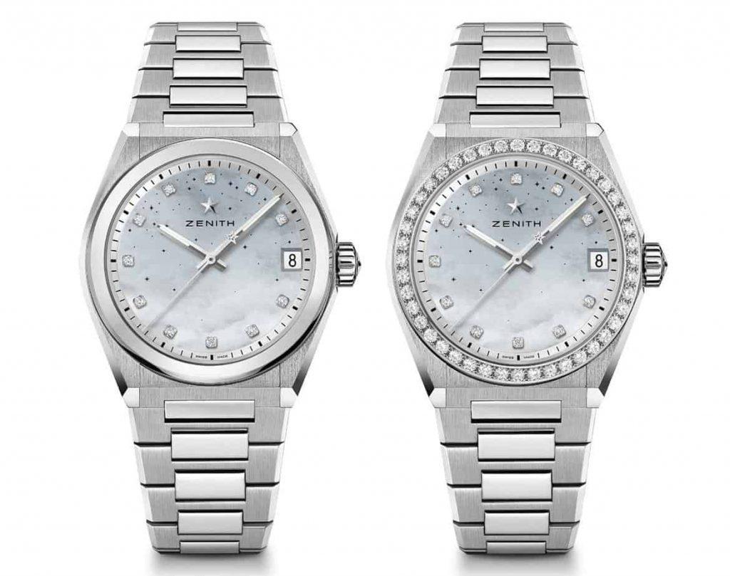 גרסת לוח אם הפנינה של שעוני הזניט דפיי מידנייט קלאסיק. מקור - TimeandWatches.