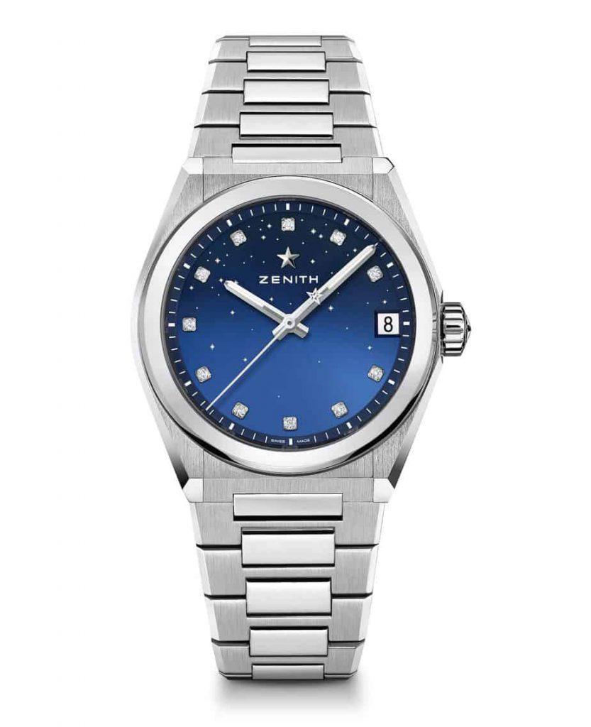 הדגם ללא שיבוץ יהלומים בבזל של שעוני הזניט דפיי קלאסיק מידנייט. מקור - FratelloWatches.