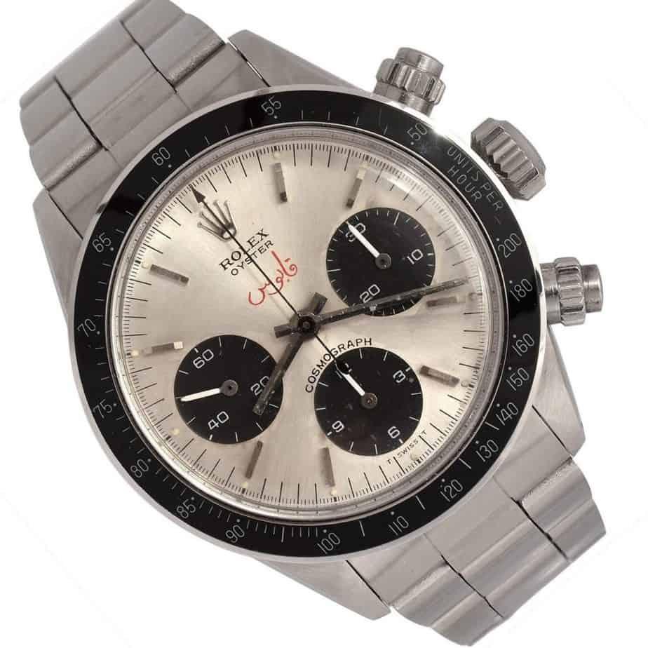 רולקס דייטונה רפרנס 6263 עם השם קאבוס. מקור - Luxury Watches Management.