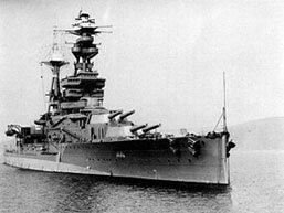 """ספינת הקרב הבריטית """"רויאל אוק"""" שעל שמה נקרא השעון. מקור: ויקיפדיה."""