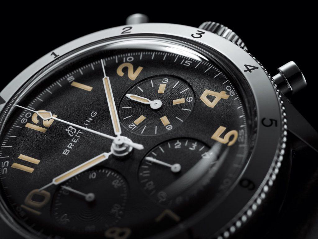 שעוני סדרת הברייטלינג AVI Ref. 765 1953 Re-Edition. מקור - Monochrome Watches.
