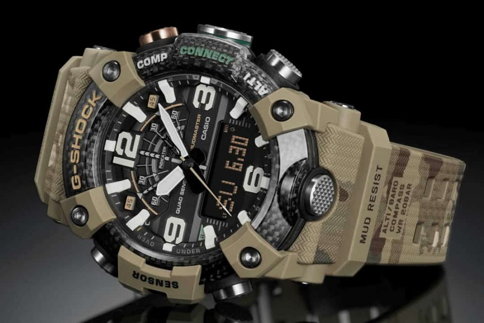 קסיו G-Shock Carbon Core הצבא הבריטי. מקור - WornandWound.