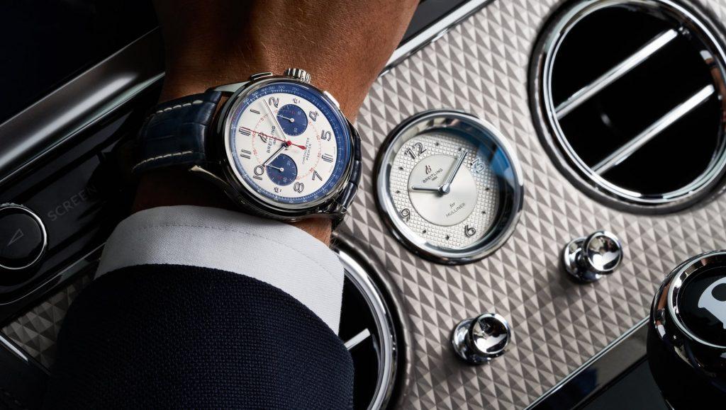 השעונים של ברייטלינג משולבים במכוניות של בנטלי. מקור - ברייטלינג.